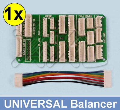 Lipo Balancer Multi Adapter Lade Board 2S-6S ( TP / HP / XH / EH ) All in one