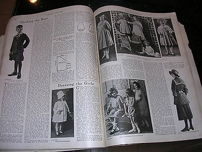Antique Book Sewing Lace & Millinery & Womens &children's Clothes 1920