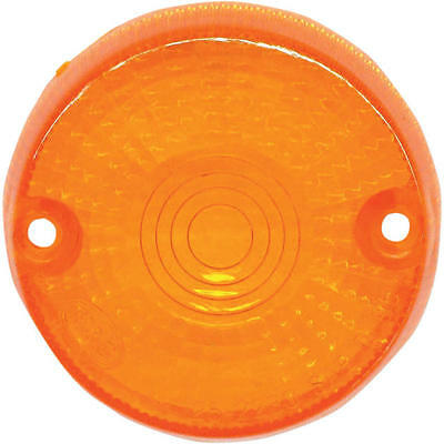 K&S DOT Turn Signal Replacement Lens Amber Front for Kawasaki KLX650C 1993-1996