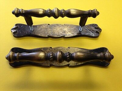 Amerock Carriage House Vintage Brass Drawer Cabinet Handle Pull Set Mid Century