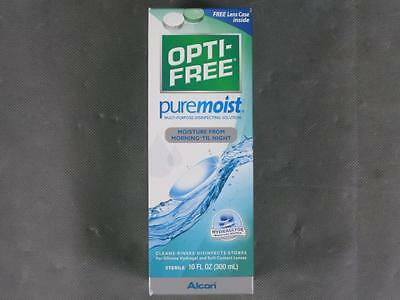 New 10oz Opti-Free Pure Moist Contact Disinfecting Solution & Case exp. 2017/09