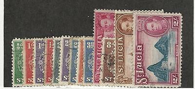 St. Lucia, British, Postage Stamp, #110//122 Used (13 Different), 1938-48