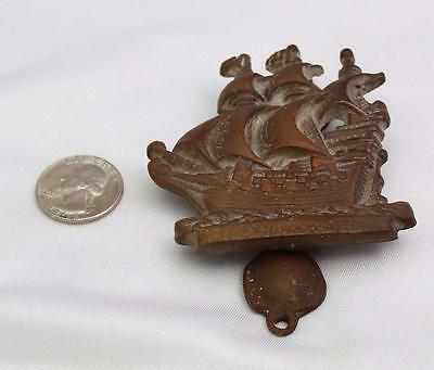 Antique Bronze Ship Gallon Boat Original Patina Finish Door Knocker