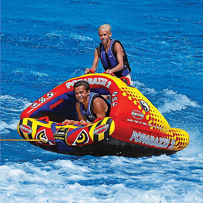 Sports Stuff Poparazzi 2 SMALL Towable Ski Tube Inflatable Biscuit Boat Ride
