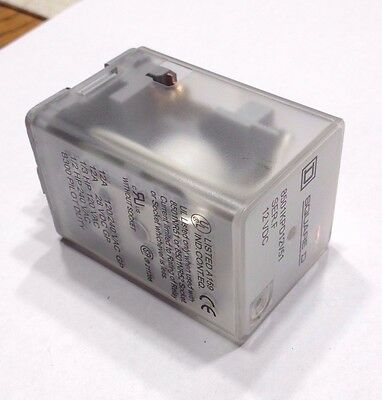 SQUARE D 8501KPD12V51  Plug In Relay, 8 Pins, Octal Base Type 12VDC