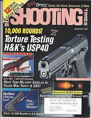 Shooting Times January 1994 H & K USP40 Browning BOSS System Ruger Mini 30
