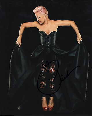 Pink Alecia Moore Singer Songwriter Hand Signed 8x10 Photo Autographed w/COA