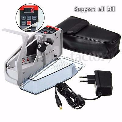 Mini Handy Money Currency Counter Cash Bill Counting Machine Financial NEW