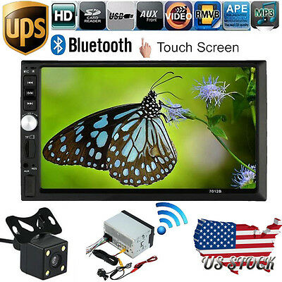"""7"""" HD Touch Screen Double 2 Din In Dash Car MP5 Stereo FM Radio Player Camera"""