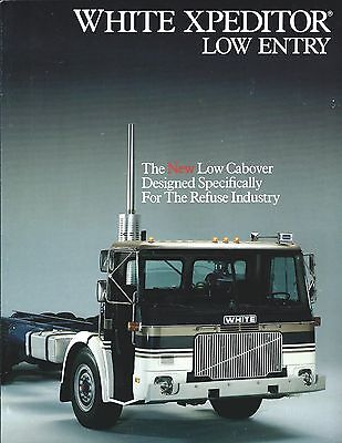 Truck Brochure - White - Xpeditor Low Entry - Refuse Garbage - 2 items (T1749)