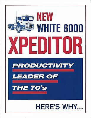 Truck Brochure - White - 6000 Expeditor - c1970 (T1751)