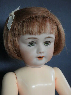 BLEUETTE Reproduction porcelain doll.SFBJ301 Green eyes-G.BRAVOT France-27cm