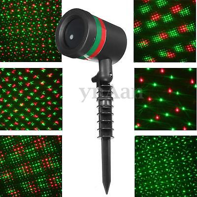 6 Pattern Changing Outdoor Garden LED Laser DJ Stage Light Projector Xmas Party