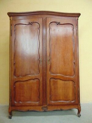 Charming small fruitwood  CARVED Louis XV  style ARMOIRE(AW829)