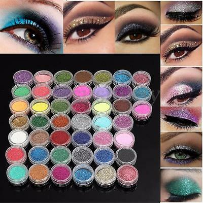45 Colors/Set Pro Makeup Loose Powder Glitter Body Face EyeShadow Cosmetic Nail