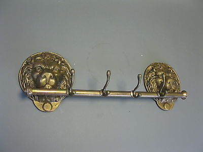 Hook Strip Coat Rack Cast iron 55cm golden Lion