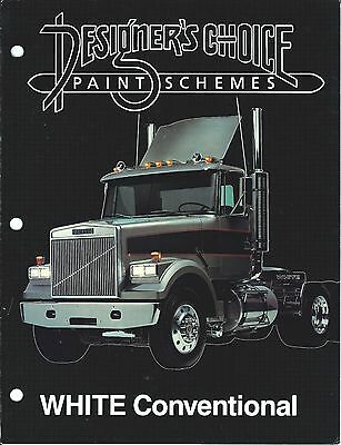 Truck Brochure - White - Conventional - Paint Process Choices Options (T1759)