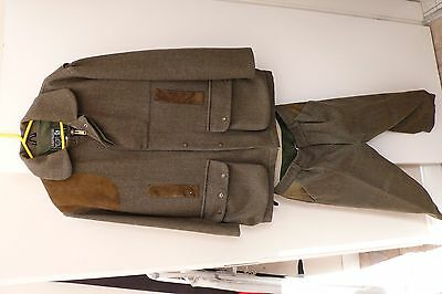 Harwick Scottish Cheviot cloth tweed shooting suit & extras
