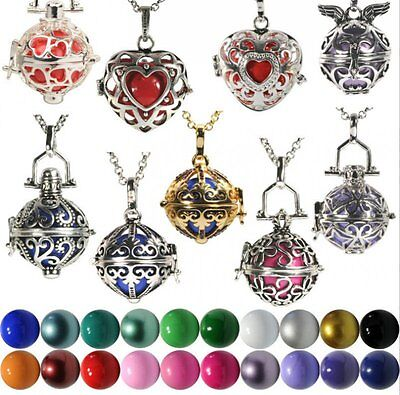 New Pregnant Ball Cage Silver Locket Pendant Angel Caller Sounds Chime Necklaces