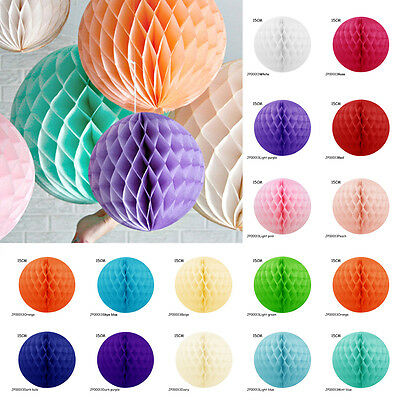 5x Christmas Hanging Honeycomb Balls Paper Lanterns Garland Party Decorations