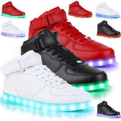 Lovers LED Night Light Up Couples Men Women Trainer Lace Up Boys Shoes Sneakers