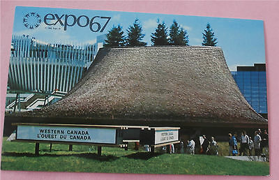 Pavilion of the Western Provinces Expo 67 Montreal Canada - Unused Postcard
