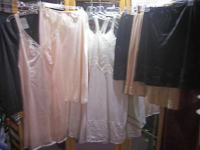 12 VTG full half slips lot resale vanity fair maidenform olga black white whole