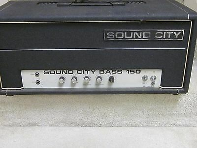 Sound City Bass 150 vintage tube amplifier head- works great