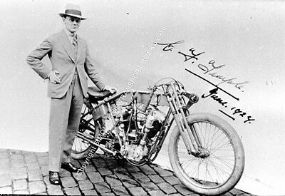 "Temple JAP . Claude Temple. Land Speed Record bike late 1920s. 10x7"" photo"