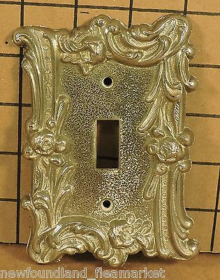 Vintage USED Ornate Metal Switch Face Plate Cover HD#16