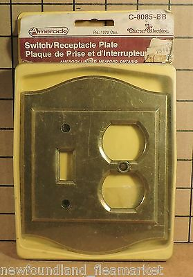 Vintage UNUSED Ornate Metal Switch Outlet Face Plate Cover HD#27