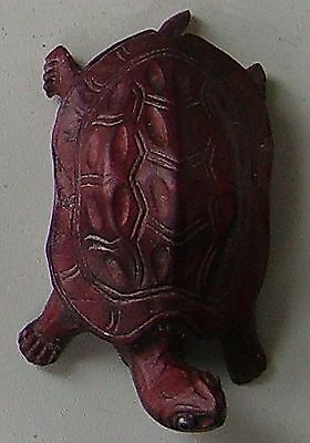 Solid Carved Wood Figure  Tortoise Vintage