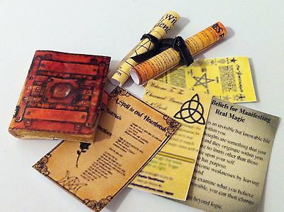Dolls House Witch/wizard Book,scrolls, And Sheets Set Extra Item,s Free Post!!!