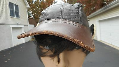 US AAF BOMBER B-2 SHEEPSKIN LEATHER FLIGHT CAP Excellent Condition Size 7 MFG