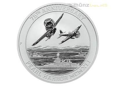 1 $ Dollar 75th Anniversary Pearl Harbour Tuvalu 1 oz Silber 2016