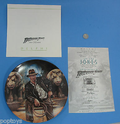 COLLECTIBLE PLATE '89 vtg-  Indiana Jones Raiders of the Lost Ark Harrison Ford