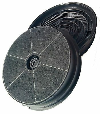 2 x Round Charcoal Carbon cooker oven Hood extractor Filters for CDA CST6 CHA5
