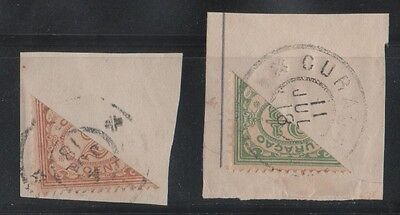 Curacao 1918- Bisect Stamps Scott Catalog #48-49 (Lot #46-56)