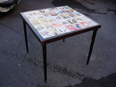 Vintage Look Card / Games Table With Foldaway Vono Style Legs