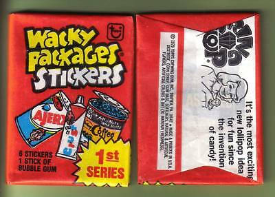 1979 Topps Wacky Packages Stickers Series 1 Pack (x1) Fresh from Box!