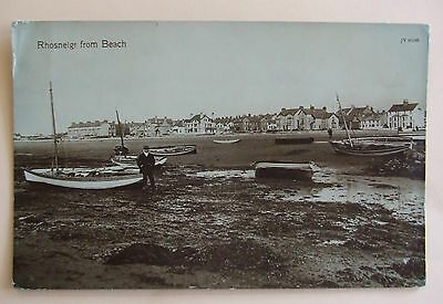 VALENTINES RP Postcard c.1910 RHOSNEIGR FROM BEACH ANGLESEY WALES
