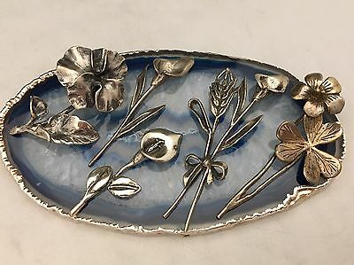 Beautiful Collection/Lot of Hand Crafted Sterling Silver Miniature Flowers -L402