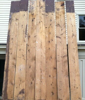 1820s antique hard pine wide board plank flooring old surface foot worn 570 ft