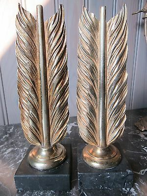 Elegant French Antique Bronze Pair Of Ornaments Book Ends