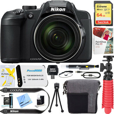Nikon COOLPIX B700 20MP 60x Zoom Super Telephoto Digital Camera 64GB 12Pc Kit
