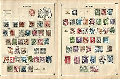 Denmark 1851-1963 Collection on Scott International Pages, 14 Pages