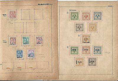 Albania Collection on Schaubeck Pages 1913-1922, 2 Pages