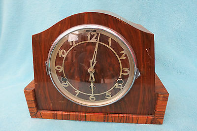 Vintage Westminster Chime Art Deco Clock For Spares Or Repair