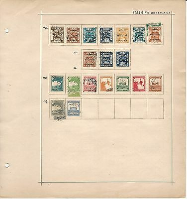 Palestine Collection on Schaubeck Page 1920 to 1927