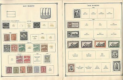 San Marino Collection 1899-1935 on Scott International Pages, 4 Pages